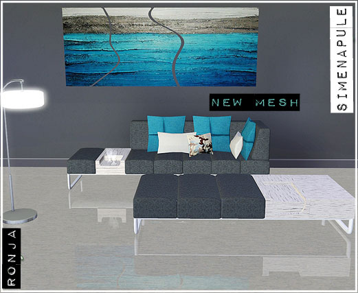 Columbine Set Livingroom Is Composed By Three Mesh, Two Sofa And Painting.  Inside The File Youu0027ll Find Four Recolor. You Can See HQ Image Here:  Columbine 1 ... Part 91