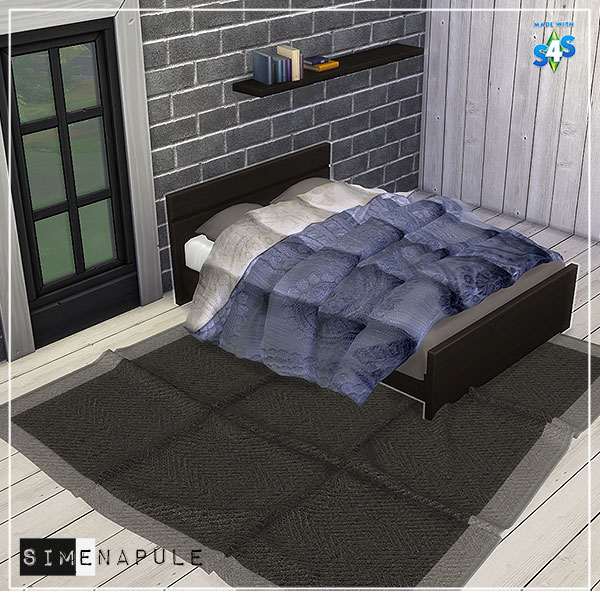 Sims 4 Objects, Bedroom Set Free Downloads