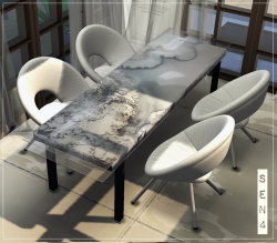 Table Augusta Marble Luxury Recolor