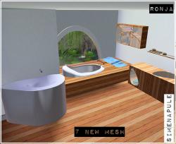 Hydrangea Bathroom