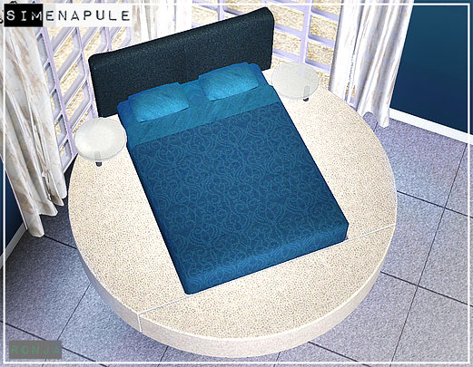 sims 3 bedroom round