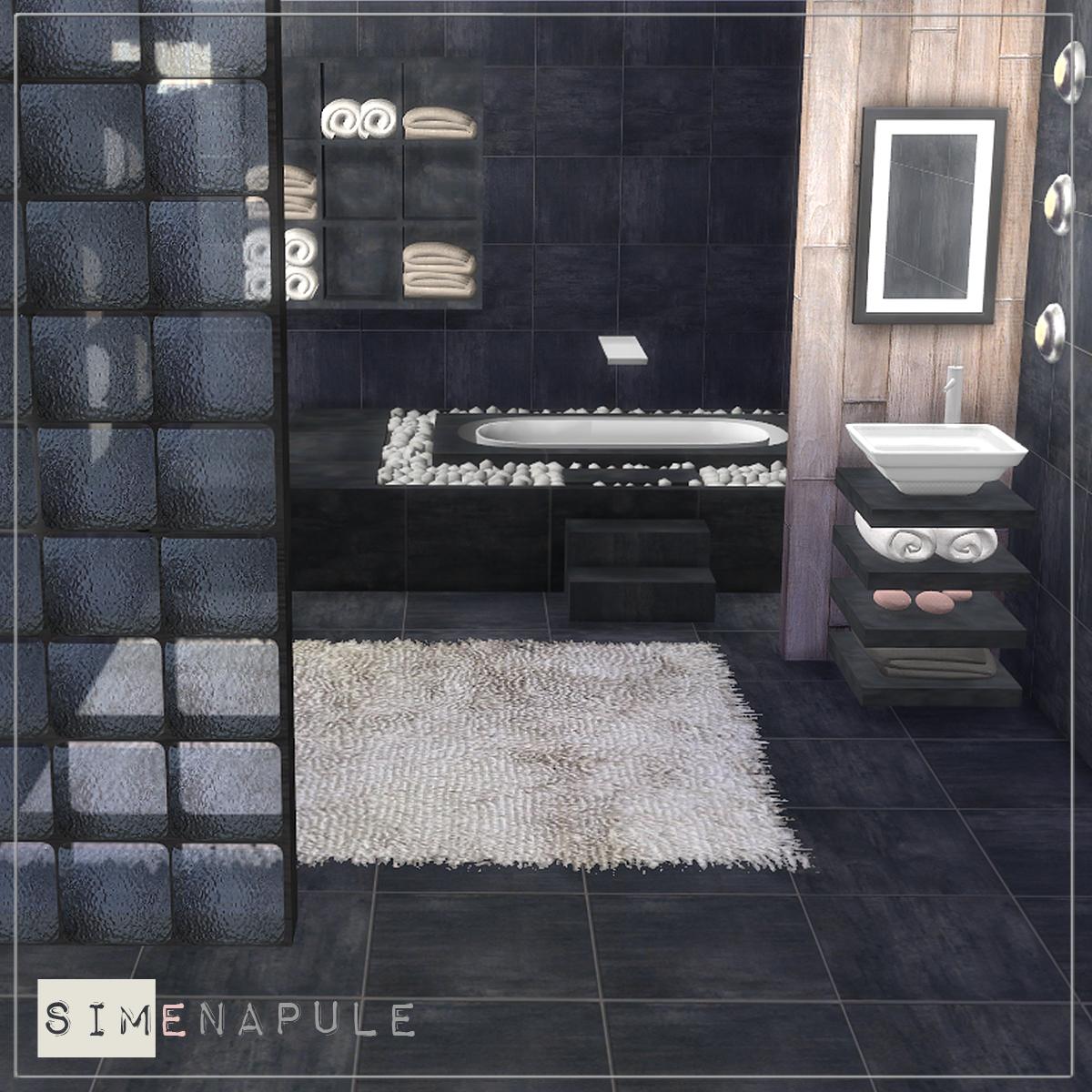 Alhena bathroom for Bathroom ideas sims 4